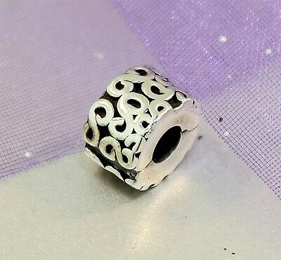 "Authentic ""PANDORA SERPENTINE SILVER FIXED CLIP CHARM"" Ref 790338"