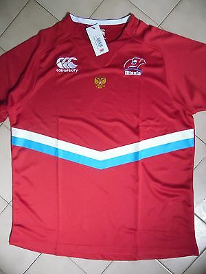 Maillot rugby Equipe de russie russia taille XXL en rouge neuf et étiquette