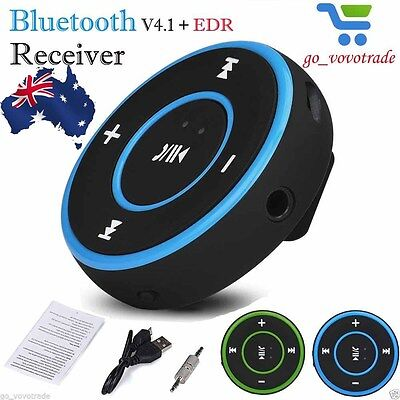 Wireless Bluetooth 3.5mm AUX Audio Stereo Adapter Car Home Music Receiver Dongle