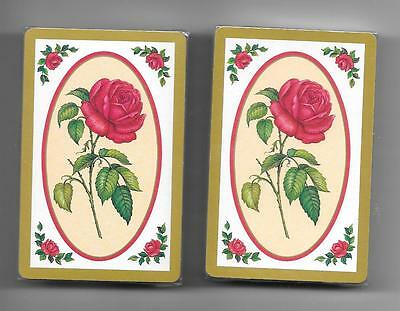 Beautiful Red Rose Sealed  Decks Of Playing Cards