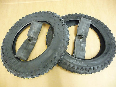 PAIR OF 12 1/2 X 2 1/4 TYRES & INNERTUBES Bike pram buggy pushchair 12x2.125 NEW