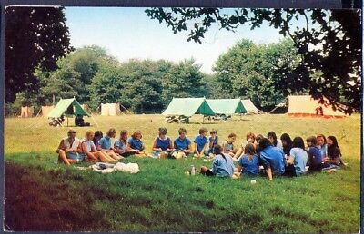 GUIDES AT BLACKLAND FARM, EAST GRINSTEAD. 1972 Vintage Postcard . Free UK Post