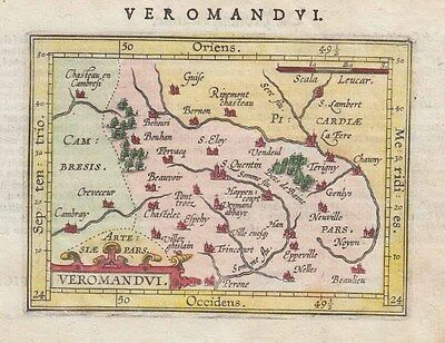1604 Scarce Ortelius/Hulsius Map of Somme, France