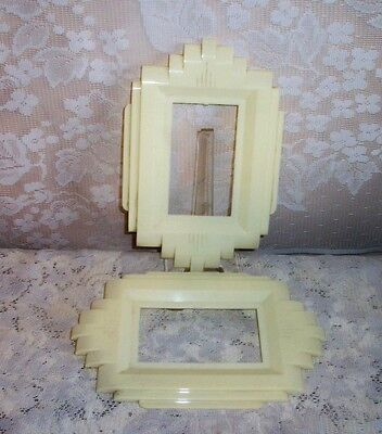 TWO Art Deco GITS MOLDING CHICAGO Celulloid / Lucite Switch Light Plate