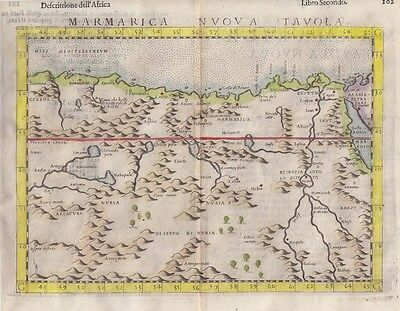 1599 Excellent Ruscelli/Ziletti Map of N.E.Africa, Egypt