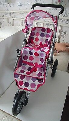 Mamas & Papas Double Baby Dolls Pushchair - Fold Up Buggy