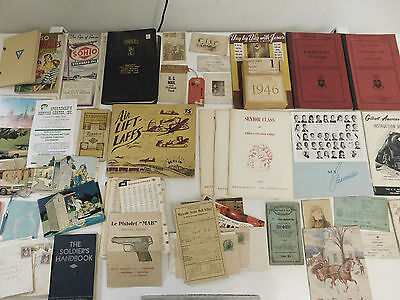 Nice Ephemera Lot Wwii American Flyer Manuals Instructions Letters Post Cards
