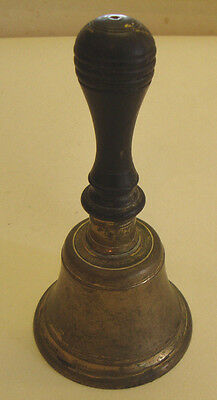 Antique Victorian hand bell with ebony handle