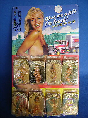 Vtg. Car Trucker~Nude Pin-Up Girl-Air Freshener~Hot Rod Shop Gas Station Display