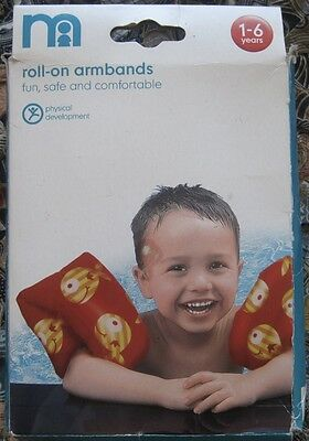 Mothercare Roll-On Armbands in red. 1-6 years. New and unused