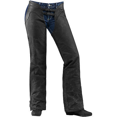 Icon 1000 Hella Ladies Womens Motorcycle Motorbike Leather Chaps All Sizes