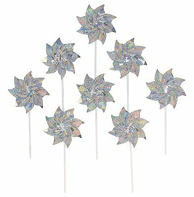 In the Breeze Silver Mylar Pinwheel - Sparkly Silver Spinners - Good Animal & -