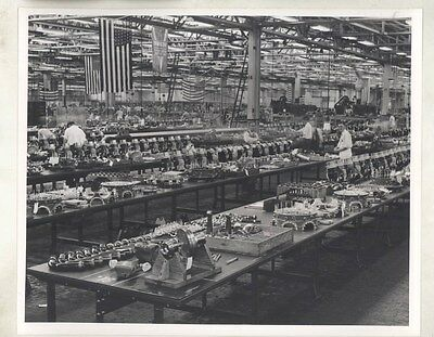 1942 Buick WWII Radial Bomber Airplane Engine ORIGINAL Factory Photograph ww9248