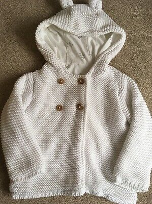 Lovely Baby Boys M&s Knitted Jacket 6-9 Months