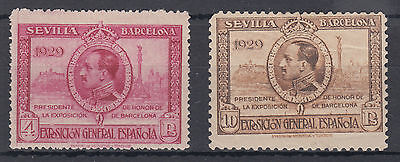 1929 Spain Mounted Mint per both scans; CAT £157