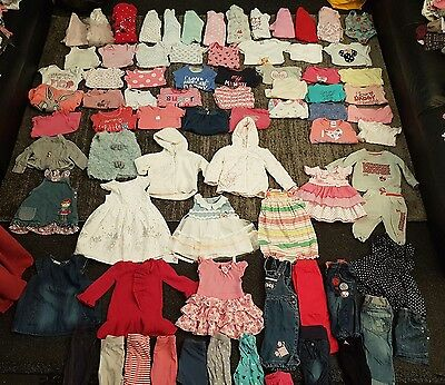 baby girls 6-9 9-12 months clothes bundle 77 items