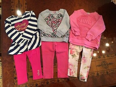 Lot Of 3 Juicy Couture Outfit Sets Size 2T Toddler Girl