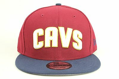 hot sales b4a0d 12315 Cleveland Cavaliers Red Wine Navy Gold White Logo New Era 9Fifty Snapback  Hat