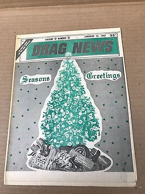 Vintage Original January 13, 1967 Drag News Publication