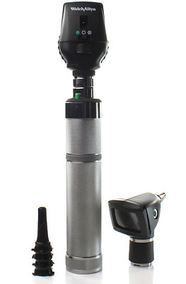 Welch Allyn 3.5v Coaxial Opthalmoscope /Diagnostic Otoscope Set w/ Handle & Case
