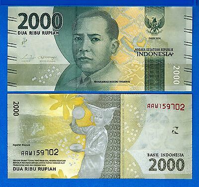 Indonesia P-New 2000 Rupiah Year 2016 Dancer Uncirculated Banknote