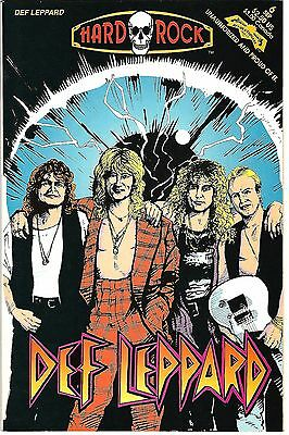 "Hard Rock Comics #6  Def Leppard (1992)  VF/NM  1st Print  ""Revolutionary Press"""