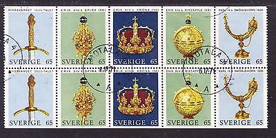 Sweden 1971 - Crown Regalia Booklet Pane - some separation FU