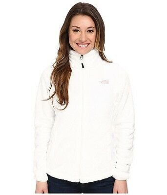 New Womens Ladies The North Face Fleece Full Zip Jacket Osito White Large
