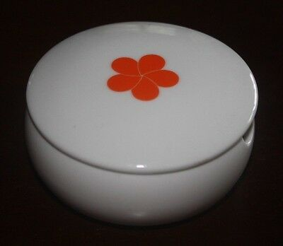 Mauna Kea Beach Hotel Hawaii CONDIMENT HOLDER/ASHTRAY Orange Plumeria HAWAIIAN