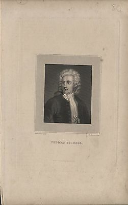THOMAS TICKELL - ORIGINAL 19th CENTURY ANTIQUE STIPPLE ENGRAVING c.1800s