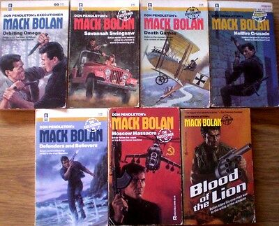 7 x MACK BOLAN, EXECUTIONER by DON PENDLETON    Bulk Wholesale Action p/bs
