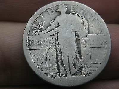 1917 S Silver Standing Liberty Quarter, Type 1