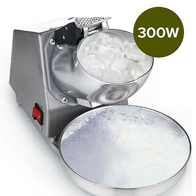 New 300W Electric Ice Crusher Snow Cone Maker Shaved Ice Shaver Machine