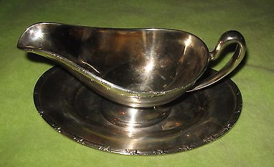 Jw Epns Silver Company 1552 Gravy Boat And Under Plate