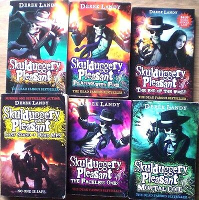 6 x SKULLDUGGERY PLEASANT - DEREK LANDY p/bs  Wholesale Bulk Lot