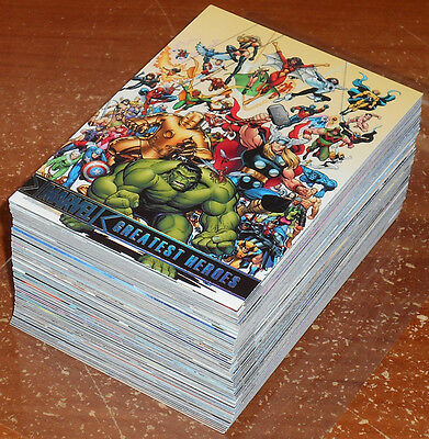 Marvel Greatest Heroes 2012 ~ COMPLETE 81-CARD PARALLEL BASE SET