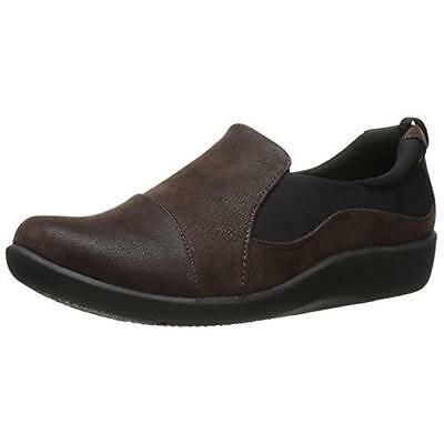Clarks 2614 Womens Sillian Paz Brown Casual Loafers Shoes 8.5 Medium (B,M) BHFO