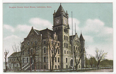 Court House Lawrence Kansas 1910c postcard