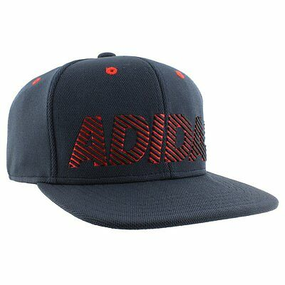 New ADIDAS Men's Recruit Snapback Structured Cap OSFA Navy/Red 104730