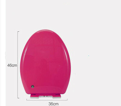 Rose Red V-Shape Pattern Resin Bathroom Accessories Toilet Seat Toilet Cover