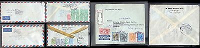 Saudi Arabia 1959-1963   3 Air Mail Covers Nice Frankings !