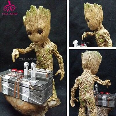 New In Box Guardians of the Galaxy Vol. 2 Baby Groot Push Bomb Button Figure WZA