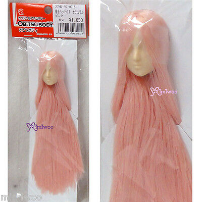 Obitsu 1/6 Female Figure Dollfie White Skin Head 01 with Long Rooted Hair Pink