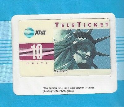 TK (5) AT&T 10u Statue of Liberty (Group 3 = 'PO' Over Barcode) Portuguese