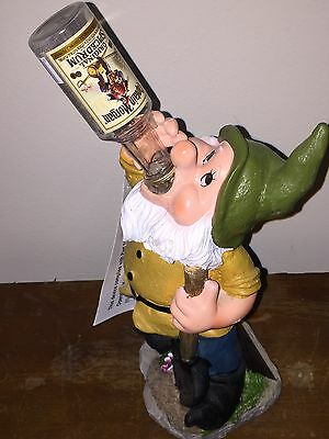 Captain Morgan Rum Drinking Solar Gnome-Rare-Light Up Bottle