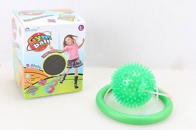 GREEN Flashing LED Lights Ankle Leg Skip Ball Jumping Skipping Rope Toy Game