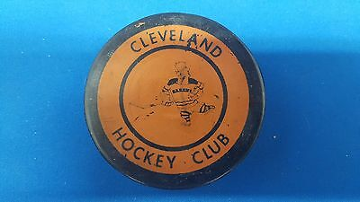 Vintage 1968/69 Ahl Cleveland Barons Ccm3 Double Crested Puck