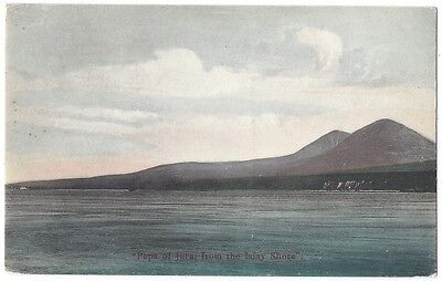 Paps of Jura from the Islay Shore, Old Postcard by Clark, Unused