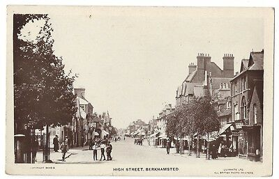 BERKHAMSTED High Street, RP Postcard by Lilywhite, Old Postcard Postally Used 19