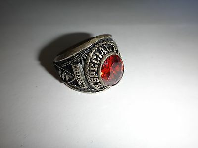 US Army SPECIAL FORCES Silver Ring With A Red Stone
